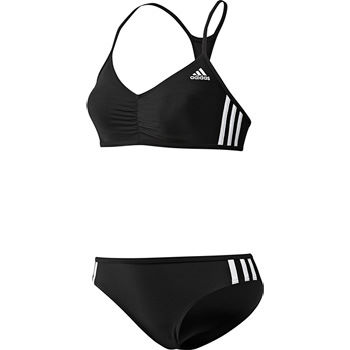 Adidas Ladies 3 Stripes Authentic Two Piece Swimsuit