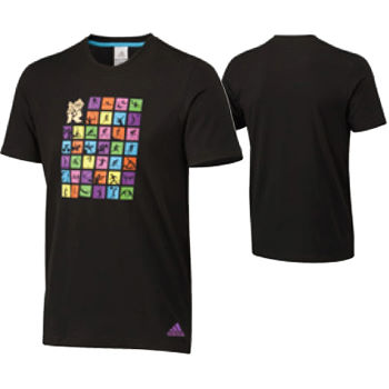 Adidas London Olympics 2012 Kids Pictomatrix Graphic Tee
