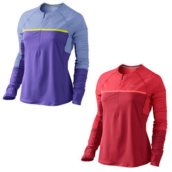 Nike Ladies Nike Sphere Long Sleeve 1/2 Zip Top SP12