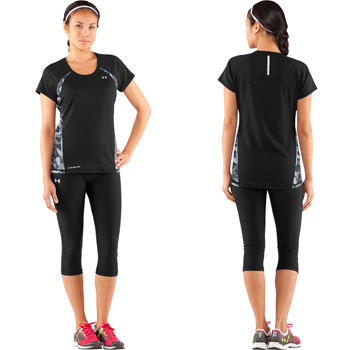 Under Armour Run Cold Black Short Sleeve Top SS12