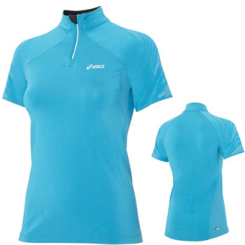Asics Ladies S/S Half Zip Top SS12