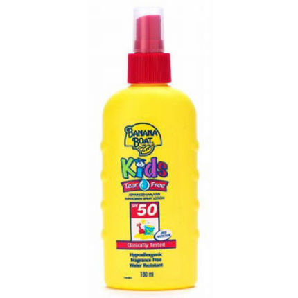 Banana Boat Kids Tear Free Spray Lotion SPF 50 180ml