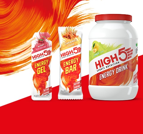 High 5 energy drink and energy bars