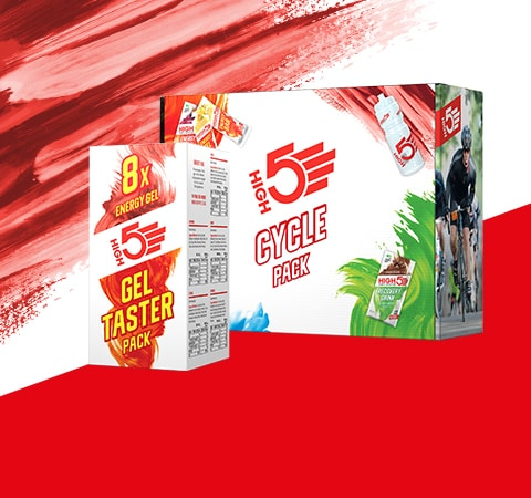 High 5 cycle pack and gel taster pack