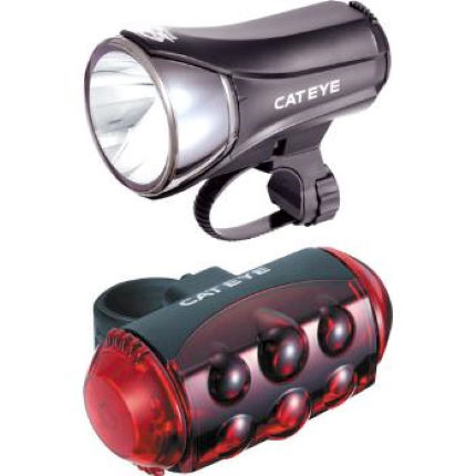 Cateye HL-EL530 and TL-LD1100 Light Set