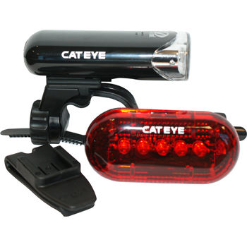 Cateye HL-EL135 and TL-LD150 Light Set