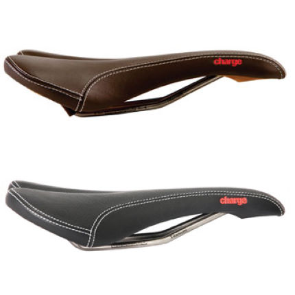 Charge Spoon Ti Leather Saddle with Titanium Rails-2012