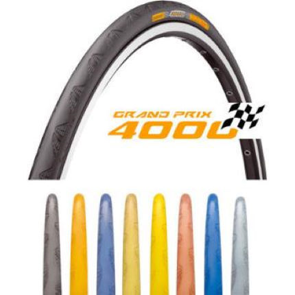 Continental Grand Prix 4000 Folding Road Tyres (2) and Tubes