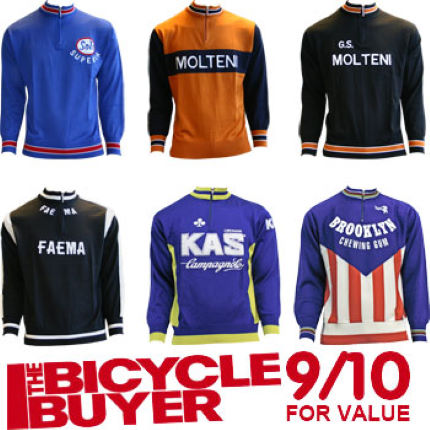 Morgan Blue Retro Wool Long Sleeve Cycling Jersey