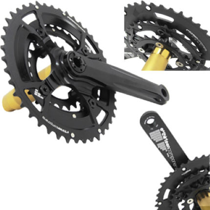 e.thirteen XC Triple Chainset (TRC) with Chainrings