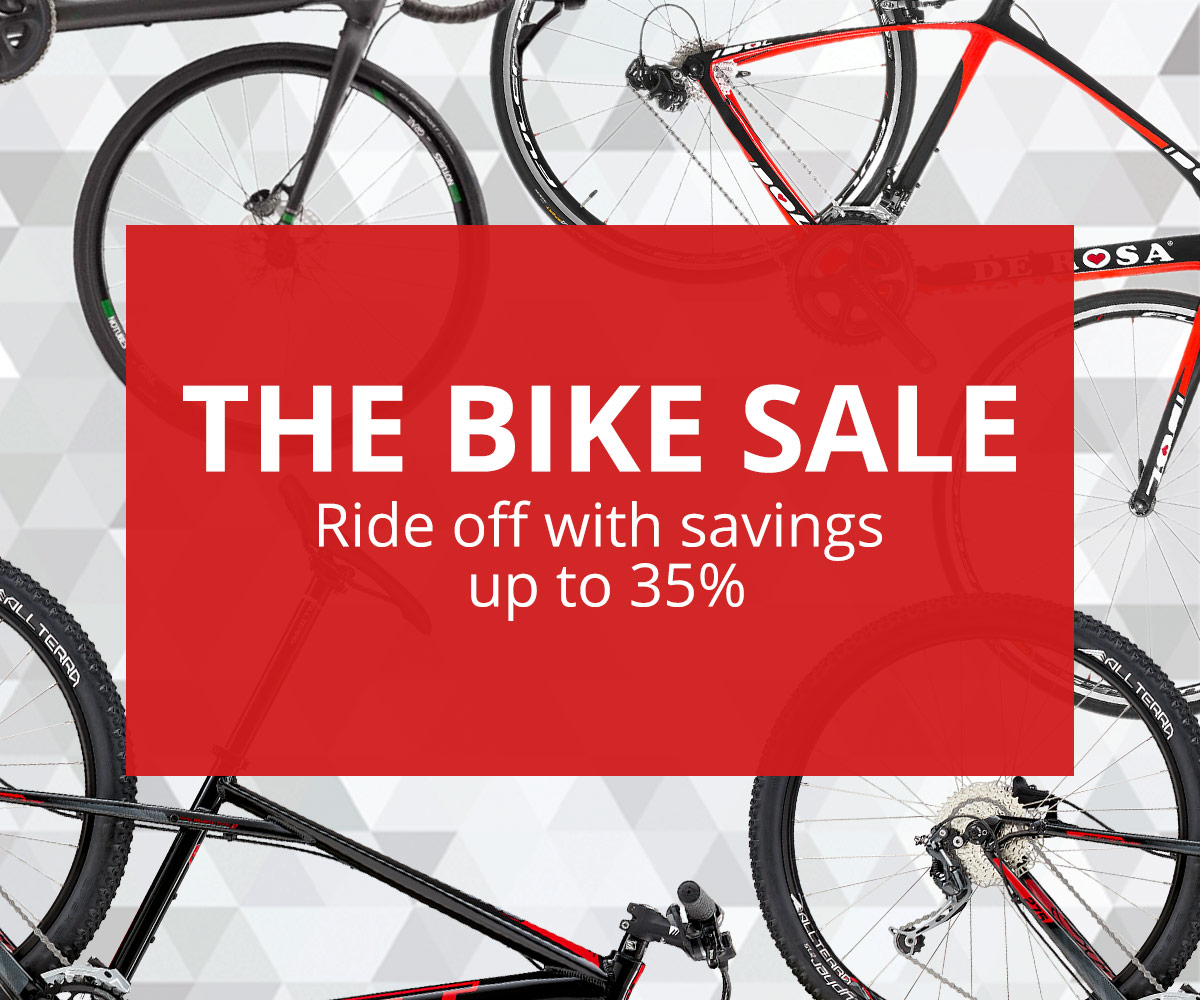 New season clearance- save 35% off the big bike sale at Wiggle.