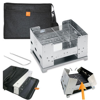 Esbit Stainless Steel Large Foldable BBQ Stove
