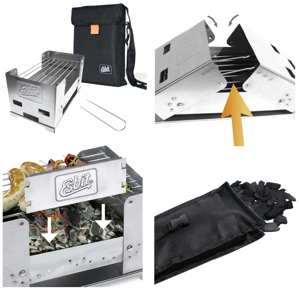 Wiggle | Esbit Stainless Steel Small Foldable BBQ Stove | Stoves ...