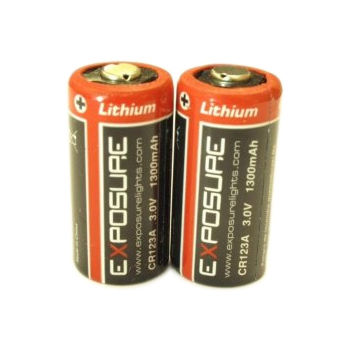 Exposure Pair of Disposible Batteries (CR123)
