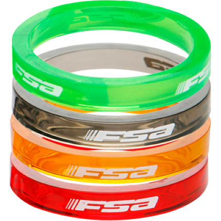 FSA Coloured Polycarbonate Headset Spacers