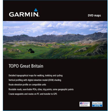 Garmin - TOPO Great Britain DVD (BaseCampソフトウエア付き)