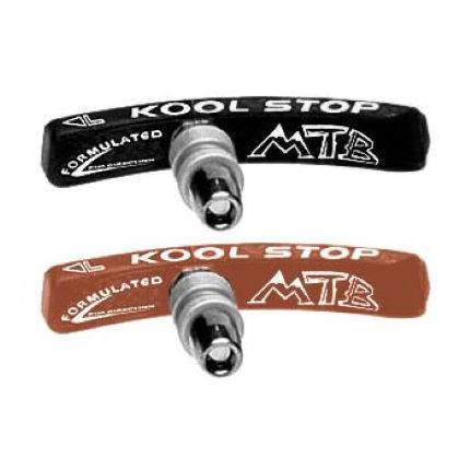 Kool Stop Mountain Bike Contoured Thrd Pair Of Brake Blocks