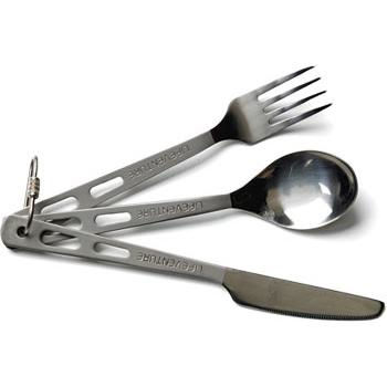 Lifeventure Knife Fork Spoon Set Titanium