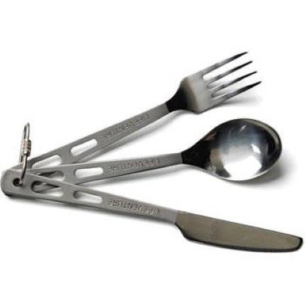 Lifeventure Titanium Knife Spoon and Fork Set
