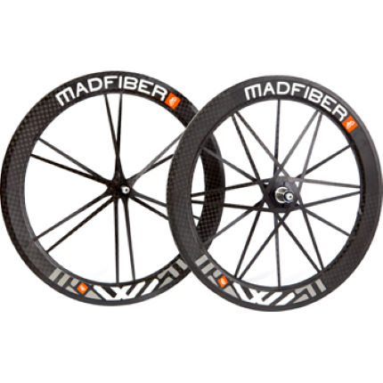 Mad Fiber Carbon Clincher Wheelset with Ceramic Bearings