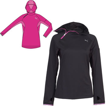 Puma Ladies Long Sleeve Half Zip Hooded Top SS12
