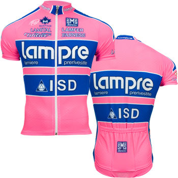 Santini Lampre Team Issue Short Sleeve Jersey 2011