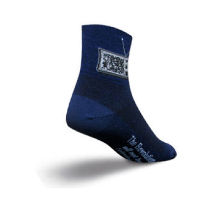 SockGuy White Noise Cycling Socks
