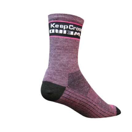SockGuy Weird Cross 5 inch Elite Tech Wool Cycling Socks
