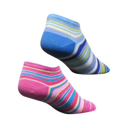 SockGuy Ladies Hidden Cuff Cycling Socks - 2 Pack