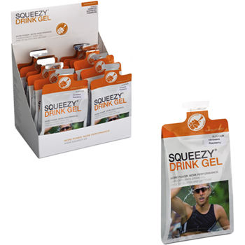 Squeezy Energy Drink Gel Box of 12 x 120ml Sachets