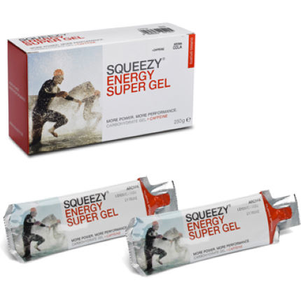 Squeezy Energy Super Gel Box of 10 x 25g Sachets