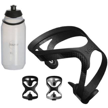 Tacx Tao Carbon Bottle Cage and Source Bottle