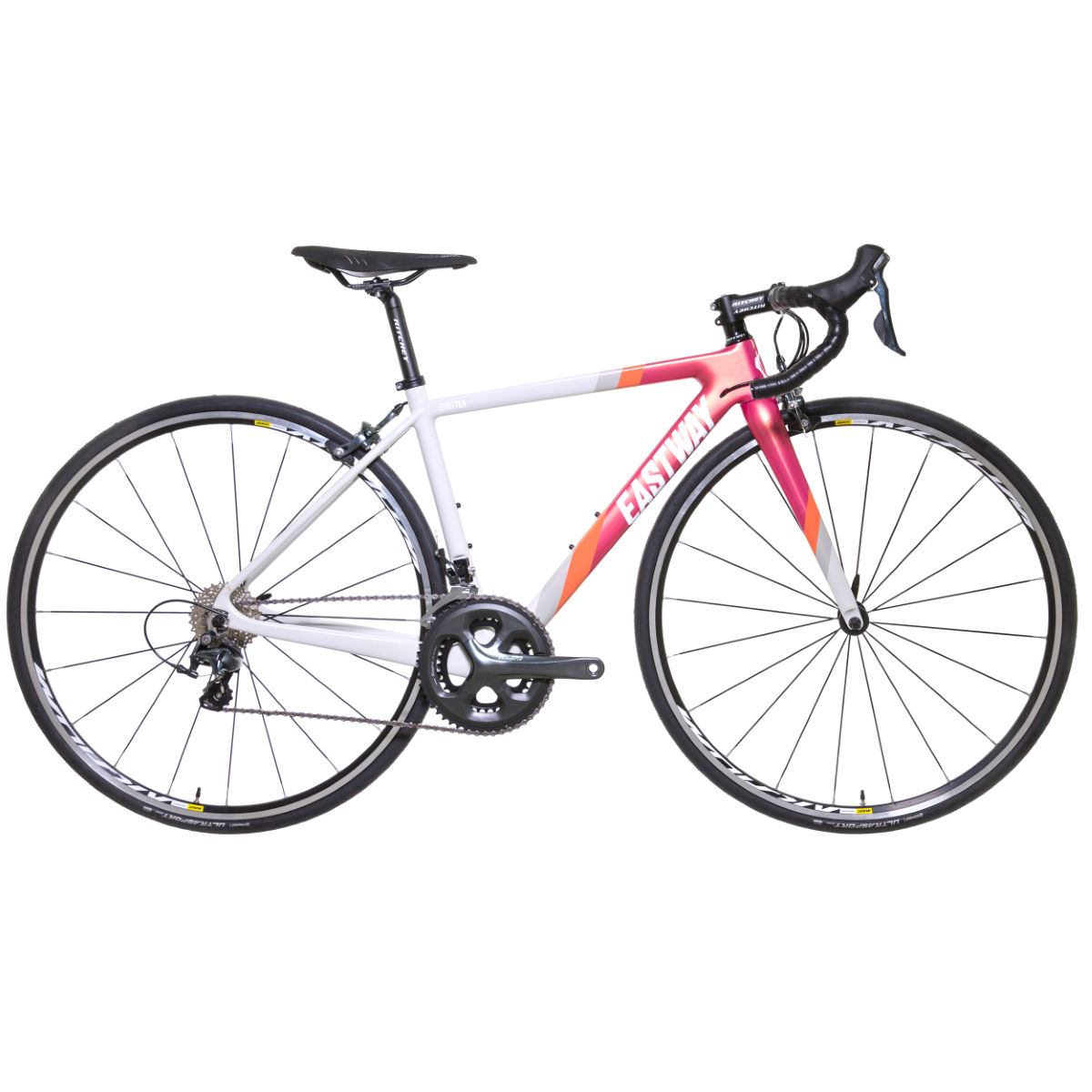 Vélo de route Femme Eastway Emiiter R4 (Tiagra, 2017) - 45cm Stock Bike Grey/Pink/Orange Vélos de route