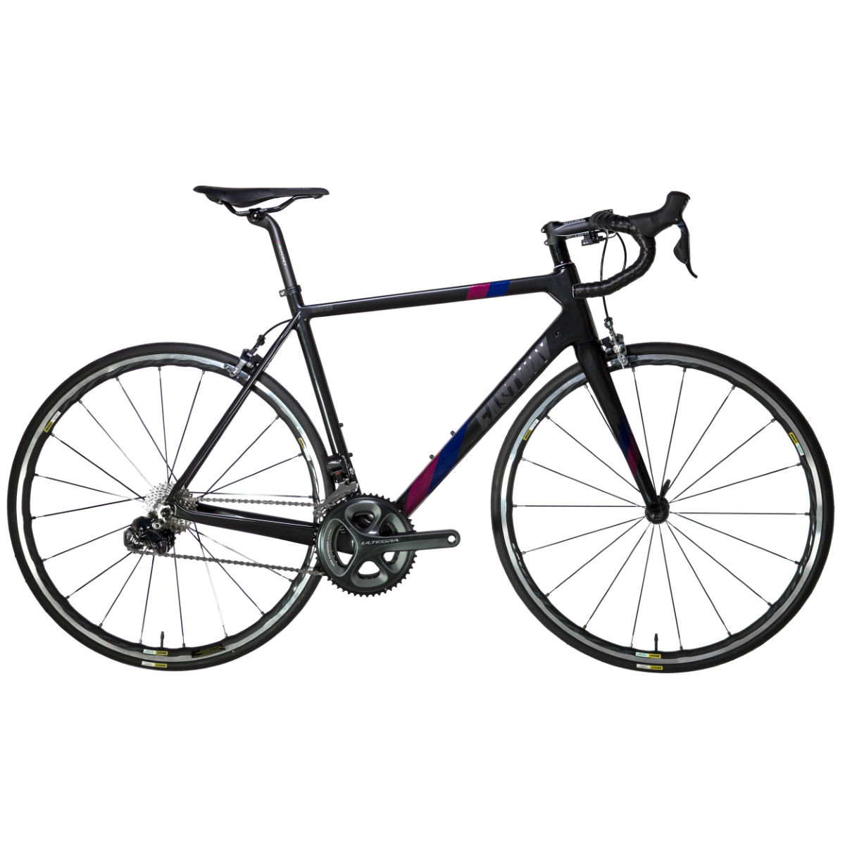 Vélo de route Eastway Emitter R1 (Ultegra Di2, 2017) - 60cm Stock Bike Black/Claret/Royal Vélos de route