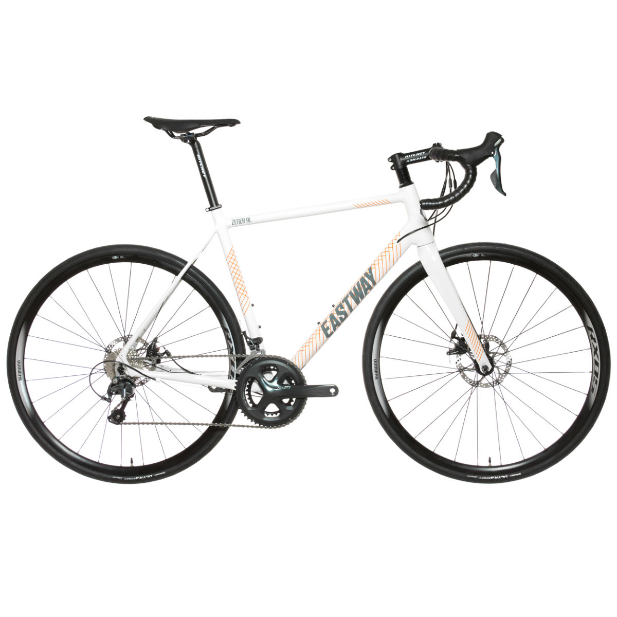 Vélo de route Eastway Zener AL D2 (Tiagra, 2017) - 52cm Stock Bike Gris/Orange Vélos de route