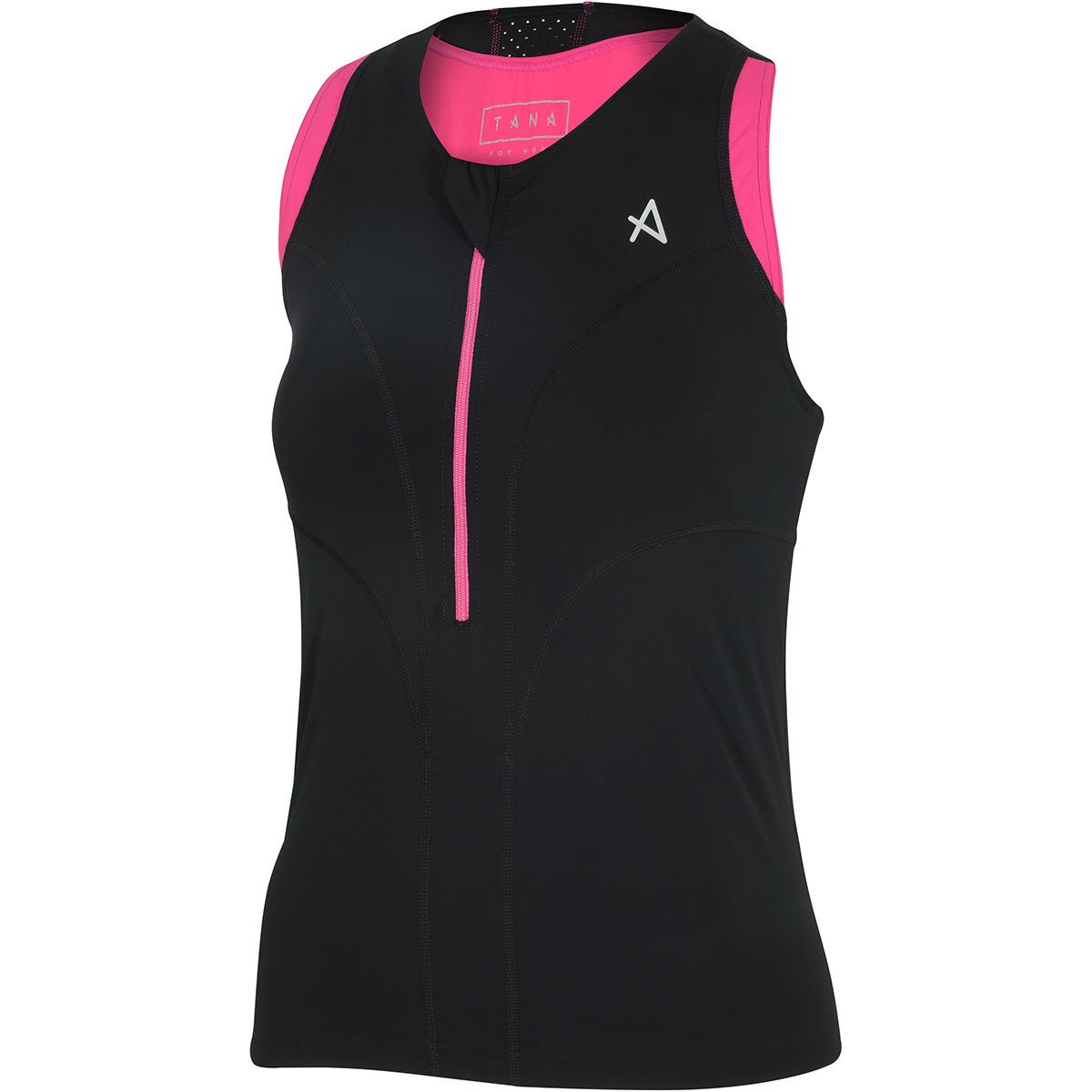 Haut de triathlon Femme HUUB Tana - Medium Noir/Rose
