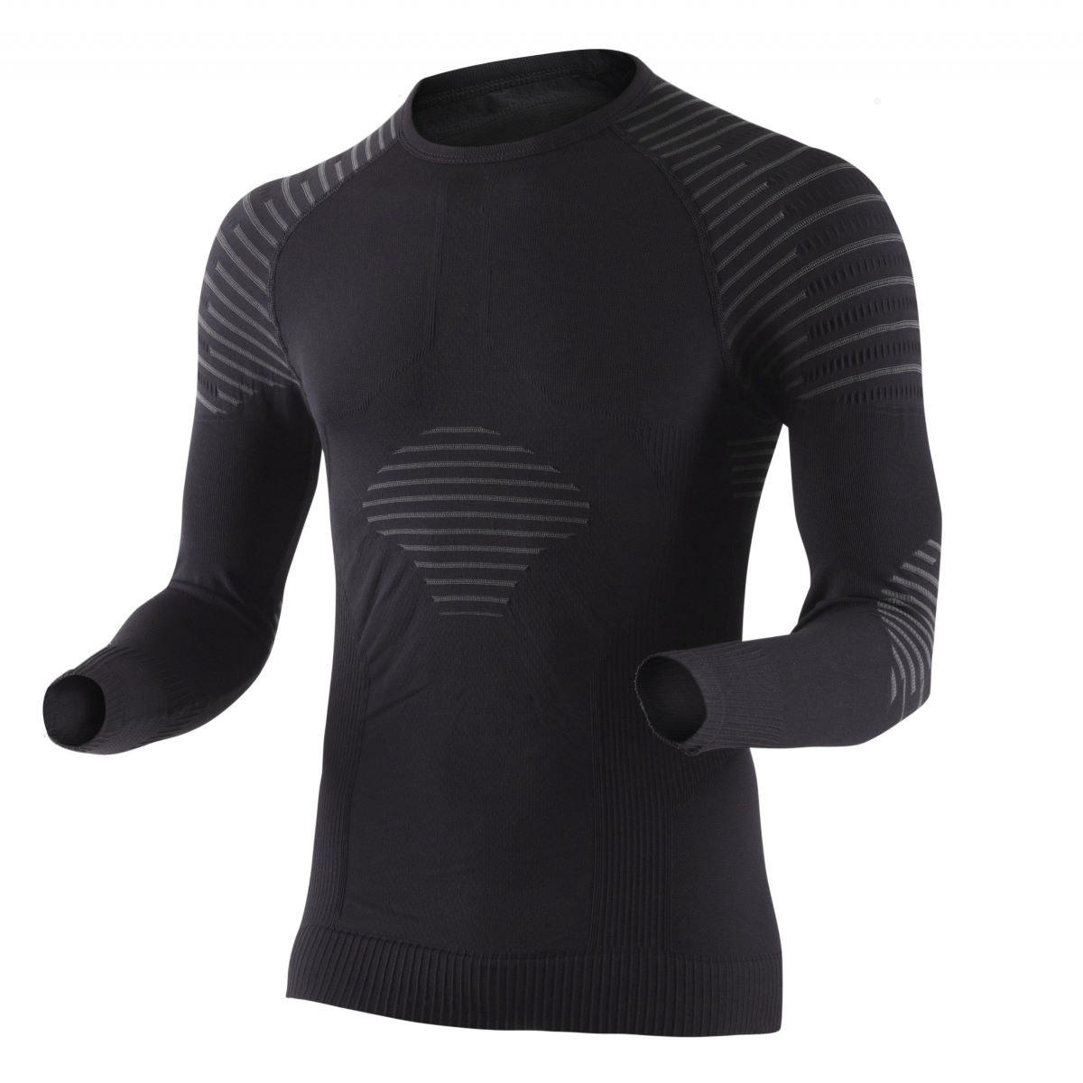 Maillot X-Bionic Invent UW (manches longues, blanc) - Small Noir