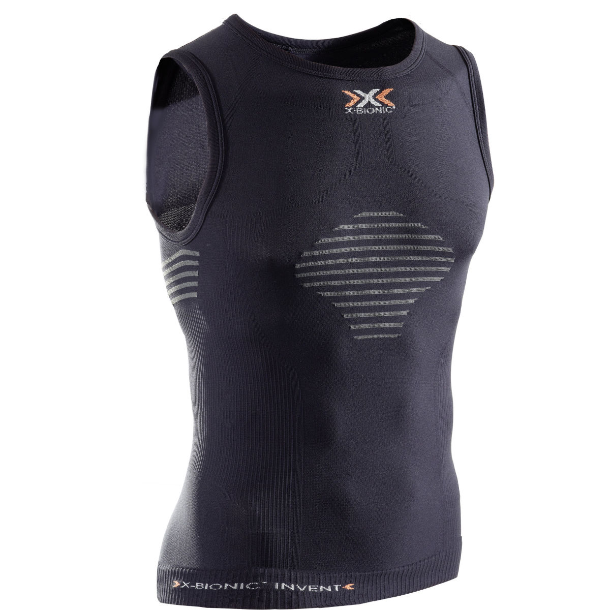 Maillot X-Bionic Invent Light UW (sans manches, blanc) - Medium Noir