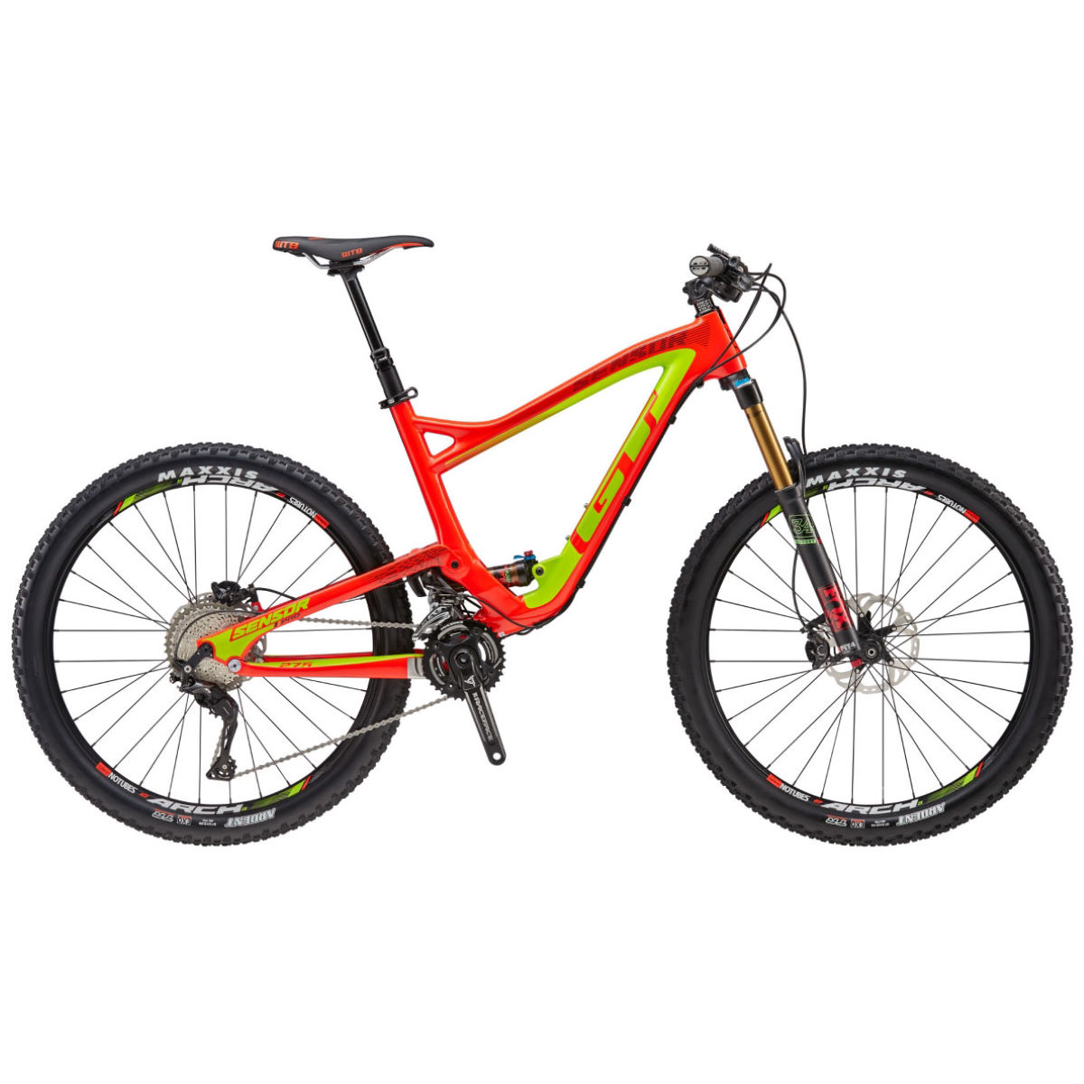 VTT GT Sensor Carbon Pro (2016) - Small Stock Bike Jaune VTT tout suspendu