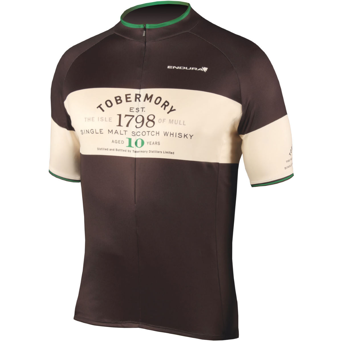 Maillot Endura Tobermory Whisky - Small Noir Maillots vélo à manches courtes