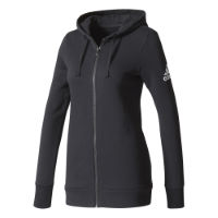 adidas Womens Essentials Solid Full Zip Hoodie