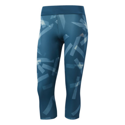 adidas Women's Response 3/4 Tight Print