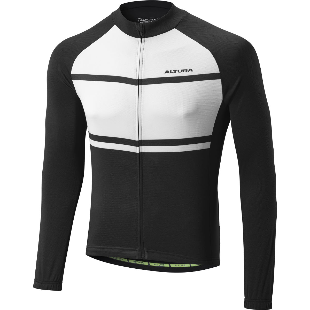 Maillot Altura Airstream 2 Summer (manches longues) - S Noir/Blanc Maillots vélo à manches longues