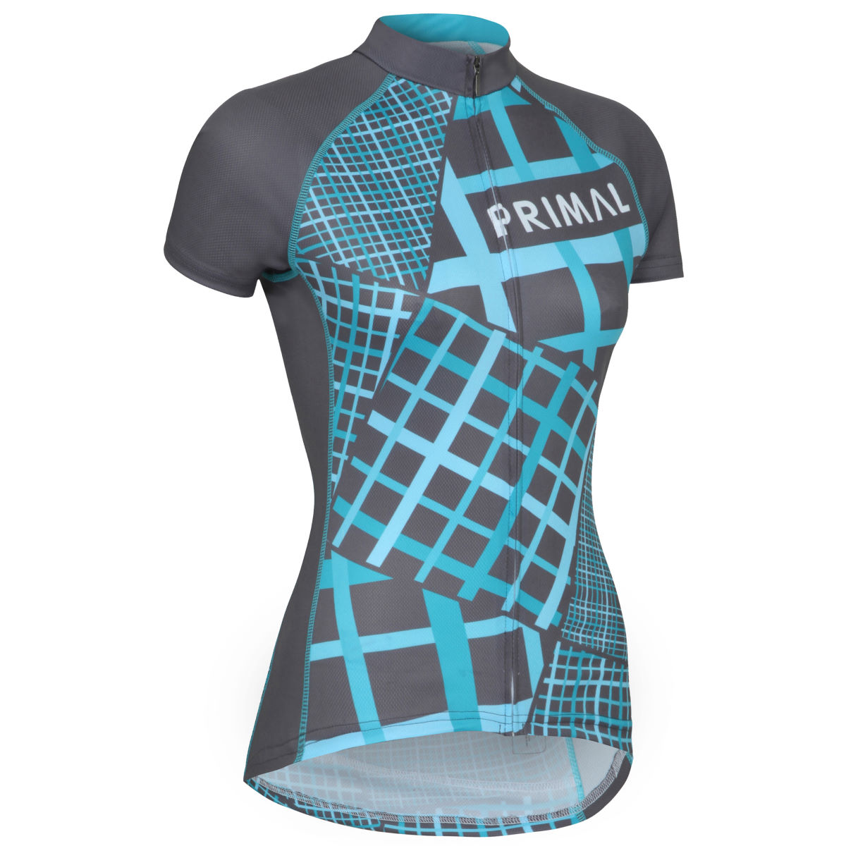 Maillot Femme Primal Lattice (coupe sportive) - 2XL Gris/Bleu