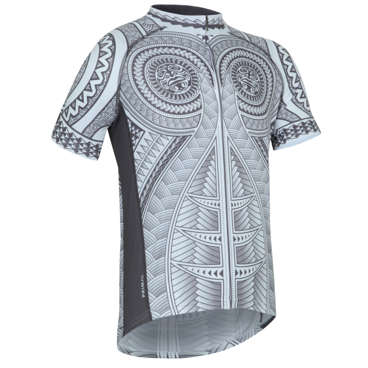 Maillot Primal Haka (coupe sportive) - S Gris/Blanc Maillots