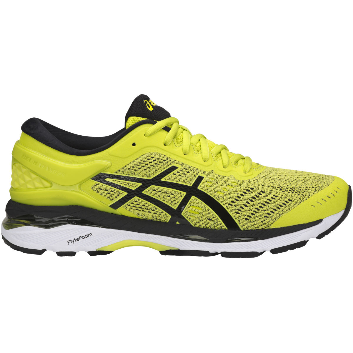 Chaussures Asics Kayano 24 - UK 7 SULPHUR SPRING/BLACK