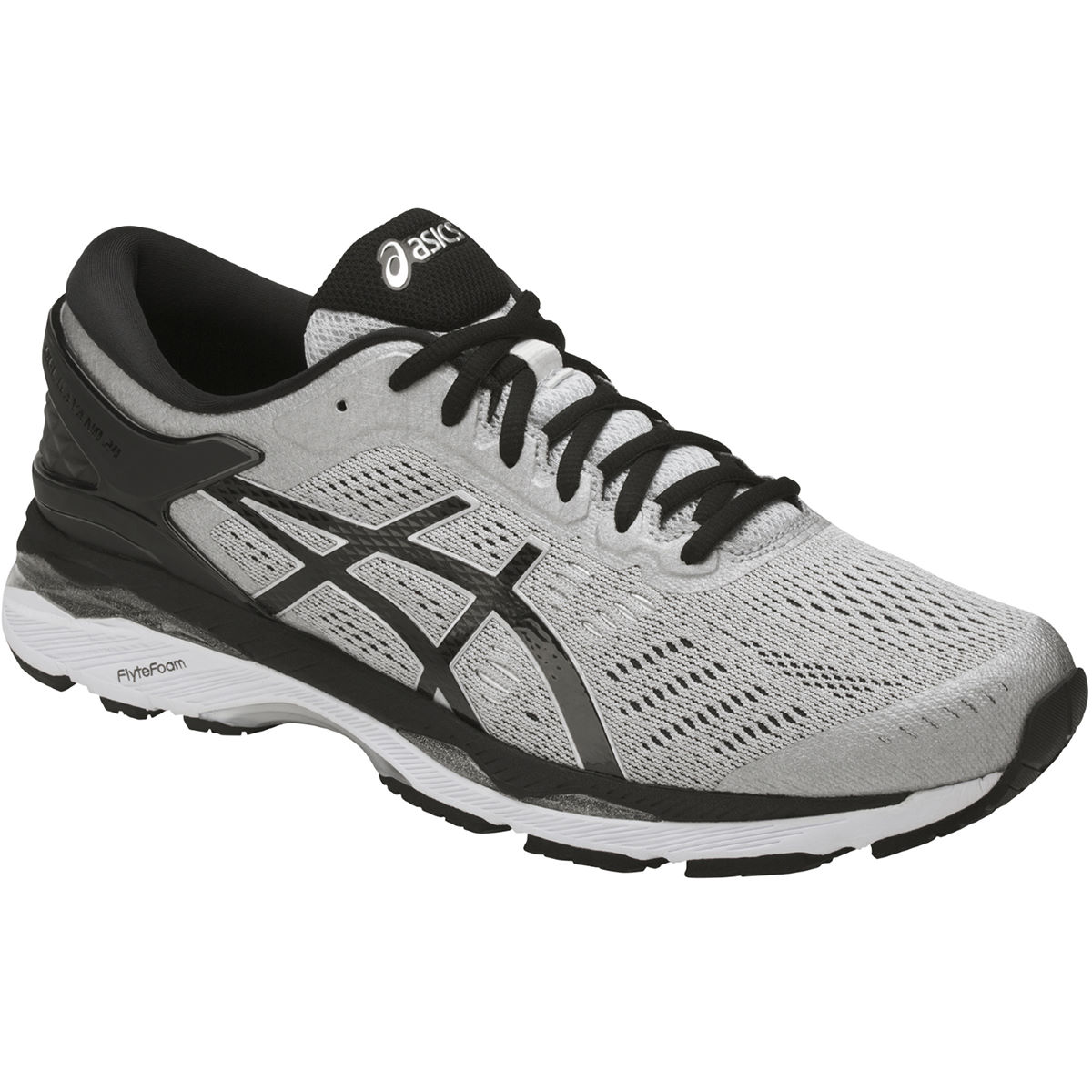 Chaussures Asics Kayano 24 - UK 11 Silver/Black/Mid Gre