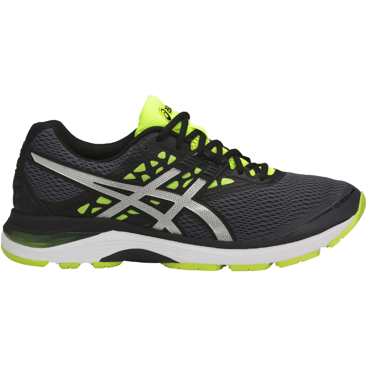 Chaussures Asics Gel-Pulse 9 - UK 11 CARBON/SILVER/SAFETY
