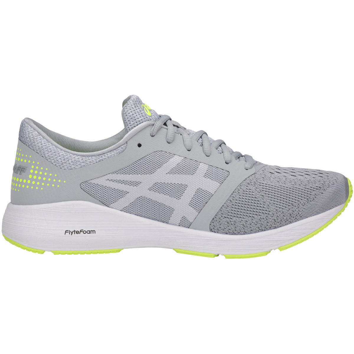 Chaussures Asics Roadhawk FF - UK 11 MID GREY/WHITE/SAFET