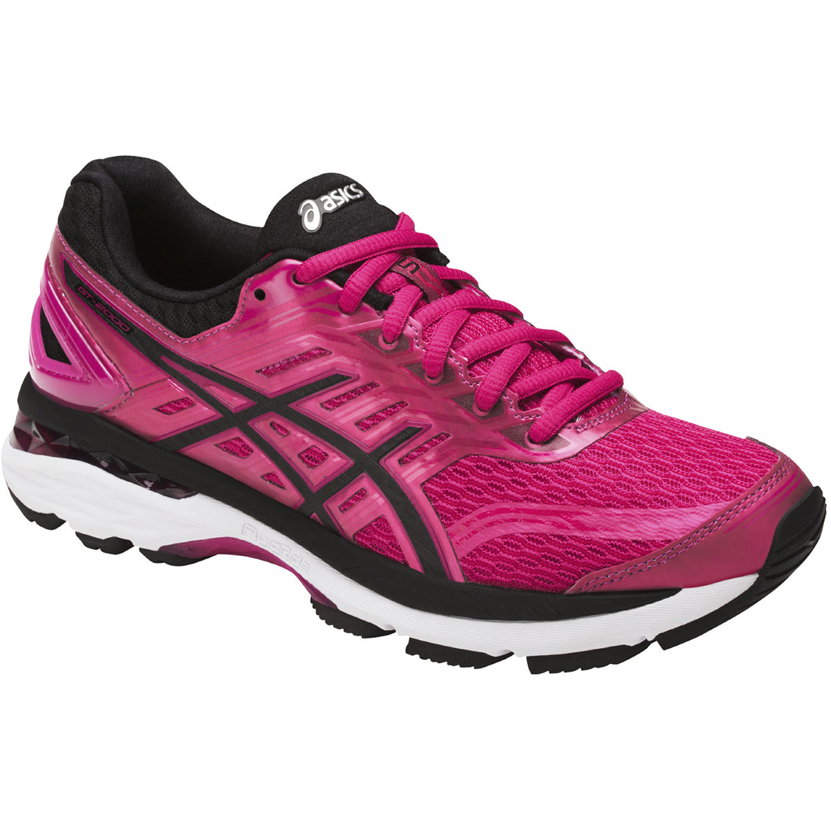 Chaussures Femme Asics GT-2000 5 - UK 4 Cosmo Pink/Black/Whi